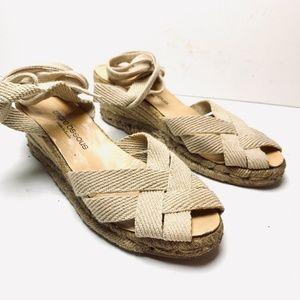 ANDRE ASSOUS Espadrilles Wedges Sandals Shoes 8.5
